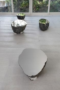Phase of Nothingness—Cut Stone 1970 | Nobuo Sekine - Stone, stainless steel