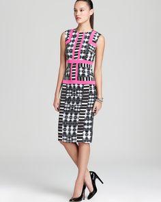 BCBGMAXAZRIA Printed Dress - Sleeveless Sheath | Bloomingdale's