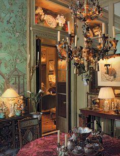Pierre Berge's Paris apartment on Rue Bonaparte. Photography by Ivan Terestchenko.