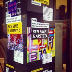 We are running workshops tomorrow from 3pm #clerkenwelldesignweek  at @millikenfloors HQ #itsartista #beneine #paintjamLondon #london #streetart #workshops #onartsco by its.artista