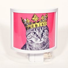 Tabbys Rule Night Light, $16, now featured on Fab.