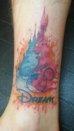 1000 ideas about disney watercolor tattoo on pinterest for Tattoo shops in castle rock