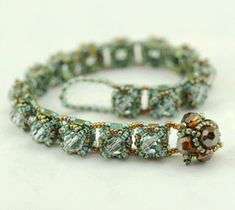 Gina Beaded Bracelet Pattern, Sova-Enterprises.com
