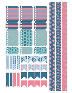 Summer Nautical Planner Stickers Printable by PrintThemAllStudio