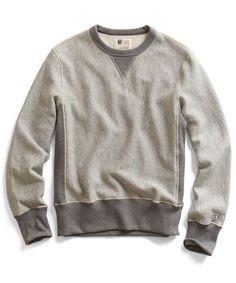 Reverse Weave Sweatshirt in Grey Heather