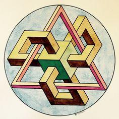 .#impossible #isometric #penrosetriangle #Oscar_reutersward #symmetry #geometry…