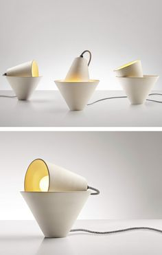 Adjustable ceramic table #lamp MIA by Fabbian | #design Federica Bubani @fabbian