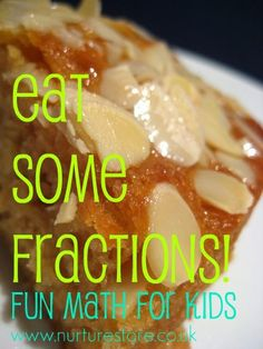 How do you teach math to your kids? I'm always looking for ideas to make it fun. Ever tried eating fractions?