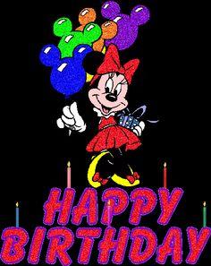 Minnie Mouse Con Globos Happy Birthday