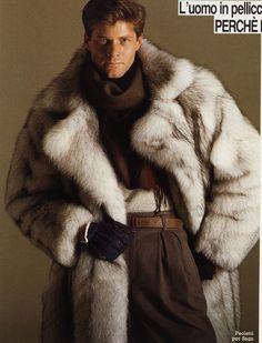 Man Furs, blue fox fur coat