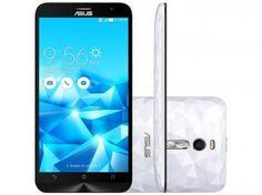 "Smartphone Asus ZenFone 2 Deluxe 128GB Branco - Dual Chip 4G Câm. 13MP + Selfie 5MP Tela 5.5"""