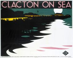 Old posters offer a glimpse into British seaside holidays in the Posters Uk, Railway Posters, Poster Prints, Beach Posters, Beach Park, British Seaside, British Isles, British Travel, Seaside Holidays