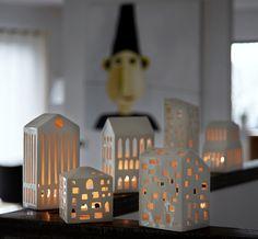 Urbania candle houses from Danish Kähler