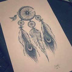 ive wanted a dream catcher tattoo forever. this ones perfect, just add some color and BAM! oh the plans i have for this one. :)