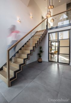 Schuurwoning Hardenberg-31(1) Interior Design Living Room, Living Room Designs, Stair Railing Design, Coffee Shop Design, Outdoor Flooring, Sustainable Design, Home Deco, Future House, Ideias Fashion