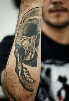 Skull Forearm Tattoo is a part of Forearm Tattoos Designs gallery. If you like this photo take a look at some more tattoo designs and ideas of the kind Forearm Tattoo Design, Skull Tattoo Design, Forearm Tattoo Men, Tattoo Designs Men, Forearm Sleeve, Tatoo Henna, Sick Tattoo, Tattoo Shading, Hand Tattoos