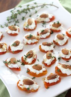 Apricot, Goat Cheese, Almond Bites