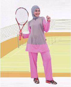 Beli Baju Sport Wanita Olahraga Qirani Fresh QDF 21 Abu Muda-Pink dari Aprilia Wati agenbajumuslim - Sidoarjo hanya di Bukalapak