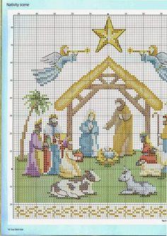 Cross Stitch Gold 87 - Nativity of Xmas Cross Stitch, Cross Stitch Needles, Counted Cross Stitch Patterns, Cross Stitch Charts, Cross Stitch Designs, Cross Stitching, Cross Stitch Embroidery, Christmas Embroidery, Plastic Canvas Patterns