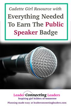 Your Cadette Scouts are in one of threecategories.If your girls fall into one of the first two categories then I would continue on in this post where I will share a few ideas to help you and your girls enjoy earning the Cadette Public Speaker badge. They are eager to get in front of people …