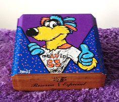 Custom Hand Painted Cigar Box – Melvin Art – Lehigh Valley Phantoms  – Hockey – AHL - Cigar Box Art - Recycled - Stash Box - Jewelry Box by TimothyDaviesArt on Etsy