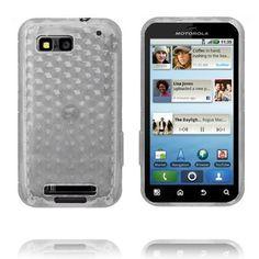 Cubes (Hvit Gjennomsiktig) Motorola Defy Deksel