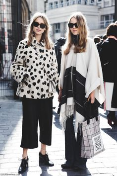 When wearing black and white, look for unique patterns and prints to create interest in your outfit. www.stylestaples.com.au
