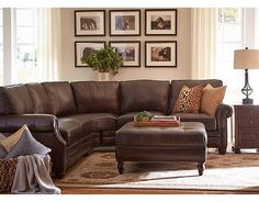 Henry Leather Sectional Set 1 - Corner 1 Right Arm Loveseat 1 Left Arm Loveseat Molasses | Living Room | Pinterest | Leather sectional : brown sectional - Sectionals, Sofas & Couches