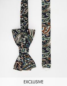 $29, Reclaimed Vintage Paisley Bow Tie. Sold by Asos. Click for more info: https://lookastic.com/men/shop_items/222249/redirect