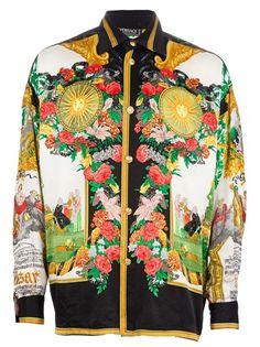 4a5f6221313 VERSACE VINTAGE Printed Silk Shirt Vintage Versace Shirts