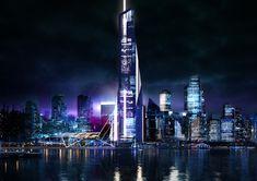 Concept Art - Sahakian Studio e. Post Apocalypse, Willis Tower, Futuristic, Concept Art, Dreaming Of You, Neon, In This Moment, Studio, City