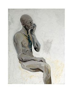 Self Portrait with Missing Leg   Oil on Panel   2003