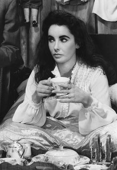 "gatabella: "" Elizabeth Taylor on the set of the Raintree County """
