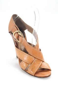 38d9cf8c1 Chloe Womens Sandals Size 38.5 8.5 Tan Brown Leather Cross Straps Block  Heel  fashion  clothing  shoes  accessories  womensshoes  sandals (ebay  link)