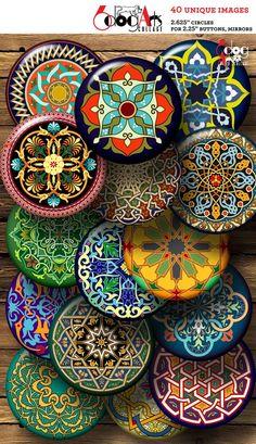 Arabesque Design, Image Collage, Paper Crafts, Arts And Crafts, Moroccan Design, Metallic Paper, Unique Image, Collage Sheet, Digital Collage