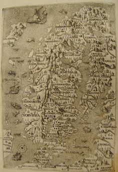 Map of Scandinavia from 1565.