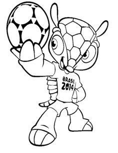 WK Voetbal Brazilie 2014 Kleurplaat