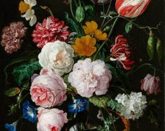 Jan van Huysum : Still Life with Flowers and Fruit by Renfields