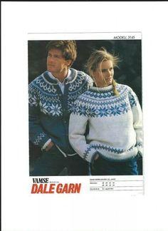 Smuk og enkel Hand Knitted Sweaters, Baby Sweaters, Vintage Sweaters, Sweaters For Women, Knitting Charts, Knitting Patterns Free, Fair Isle Pattern, Fair Isle Knitting, Sweater Design