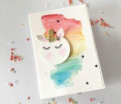 Einhorn-Karte mit Stampin'Up! Produken – Paulines Papier Unicorn card using SU products | Beautiful Cases For G