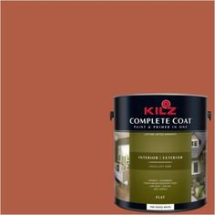 Kilz Complete Coat Interior/Exterior Paint & Primer in One #LB120-02 Scorching Hot, Red