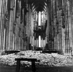 Cologne Cathedral (1945) by Lee Miller   ~ one of the first (the first?) woman photographers on the war front.