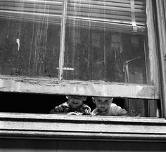 Chicago, two boys, photo by Vivien Maier