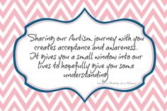 Mummy on a Mission: Austism quote, special needs, aspergers, disability