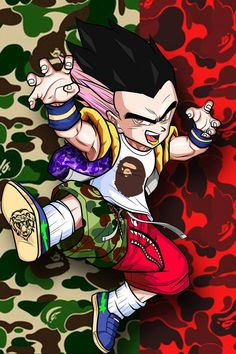 for more art work visit my website and purchase from. Bape Wallpaper Iphone, Goku Wallpaper, Naruto Wallpaper, Bape Art, Dragon Ball, Bape Wallpapers, Trill Art, Dope Cartoons, Black Anime Characters