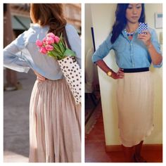 Inspired by Pinterest. Top by Gap, skirt by Aritzia.