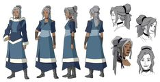 Kya - Avatar: The Legend of Korra Avatar Airbender, Avatar Aang, Team Avatar, Avatar Cosplay, Avatar Cartoon, Character Model Sheet, Character Modeling, Character Sketches, Manga Characters