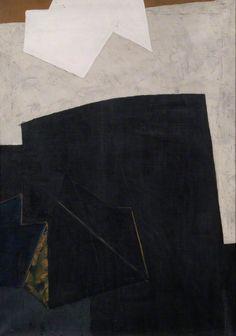 Composition Black and Yellow Ochre Adrian Heath