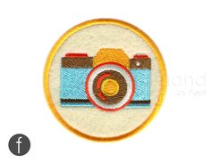 Vintage Camera Iron On Patch by FerdinandWorks on Etsy https://www.etsy.com/listing/233681511/vintage-camera-iron-on-patch