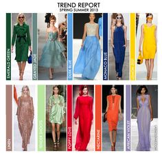 Pantone trendy colors for Spring 2013
